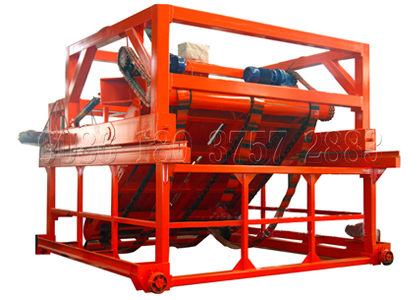 Chain plate type compost turner for fermentation grooves