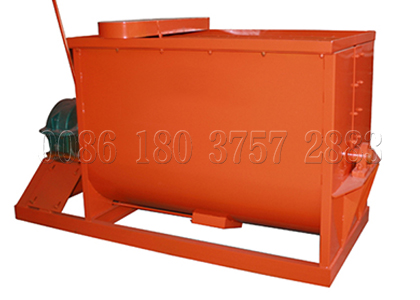 Horizontal mixer for bio organic fertilizer making