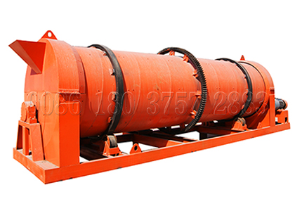 Rotary drum stirring granulator for bio organic fertilizer