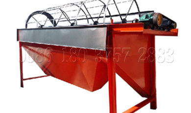 Screening machine for making animal waste compost