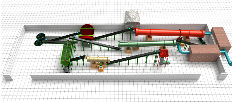 Equipment for granular manure production line
