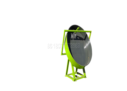 Disc granulator for pellet cow dung fertilizer production