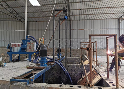 High-quality screen of cow dung dewatering machine