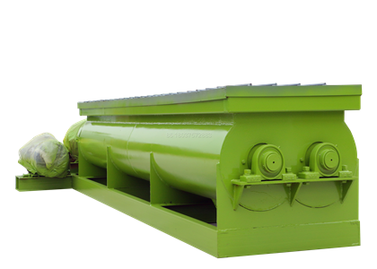 Horizontal compost mixer machine